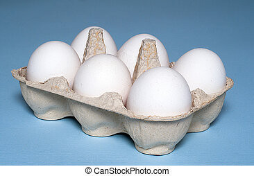 Egg Carton - six eggs in a carton