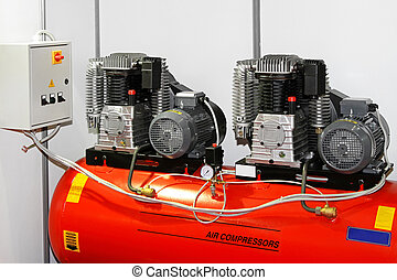 Double air compressor - Double engine air compressor in...