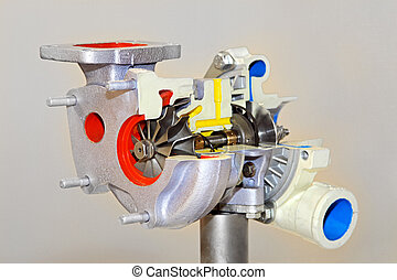 Turbo charger section repair in service workshop