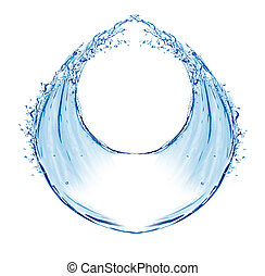 water splash circular