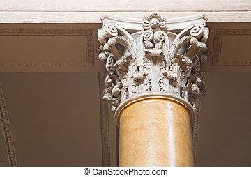 Corinthian columns.