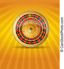 Vector illustration silver roulette