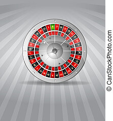 Vector illustration golden roulette