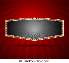 Vector Brightly LED Lamps Board - This image is a vector...
