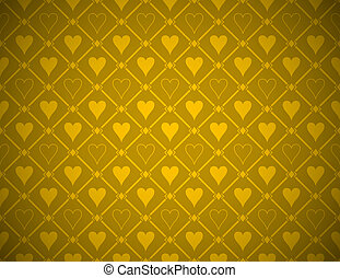 Vector Poker Golden Background