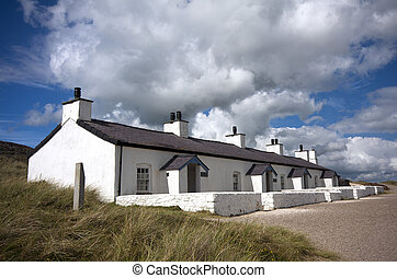 Llanddwyn Island, Anglesey, Wales - Pilots Cottages,...