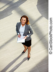 Successful employer - Portrait of happy businesswoman in...