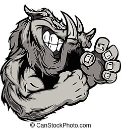 Graphic Vector Image of a Boar or W - Razorback or Boar...