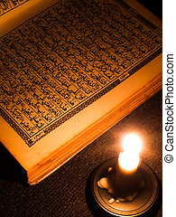 Al Quran - Al Quran and candle light