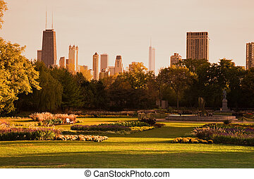 Lincoln Park during fall