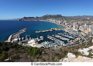 View over Mediterranean Resort Calpe in Spain