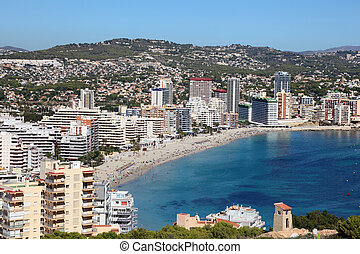 Mediterranean resort Calpe, Costa-Blanca Spain