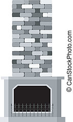 Vector illustration of the fireplace