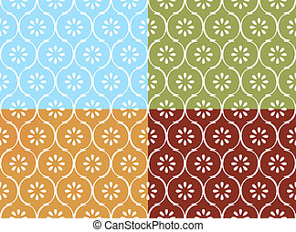 Indian pattern seamless - Seamless indian pattern in four...