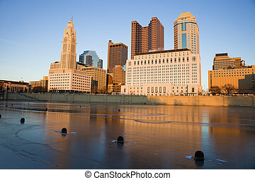Columbus, Ohio - winter afternoon - Columbus, Ohio -...