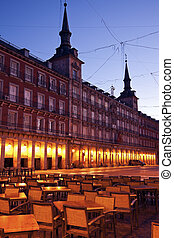 Restaurant on Plaza Mayor - Madrid, Spain.