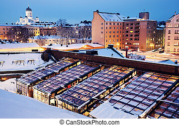 Night in Helsinki - Night in Helsinki, Pohjoisesplanadi...