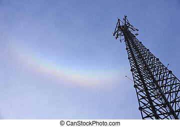 Self support tower and the rainbow - 200' Self support tower...
