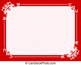 Floral hearts frame ready valentine or wedding cards