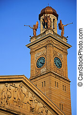 Clock Tower in Canton, Ohio - Clock Tower by Courthouse...