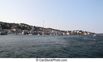 Travel along Bosphorus - View from the boat, Turkey,...