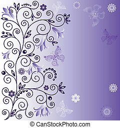 Gentle violet background - Gentle violet frame with curls,...