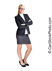 Full length portrait of attractive business woman.