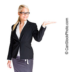 The offer - Beautiful blond business woman with in in...