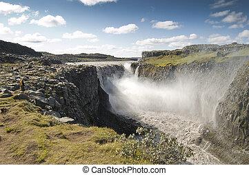 Dettifoss, cascata, (Iceland)