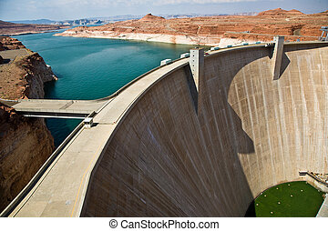 Glen Canyon Dam near Page at the colorado river