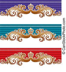 Ornamental royal vector design
