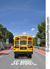School Bus Crossing Traffic Sign - School Bus Crossing...