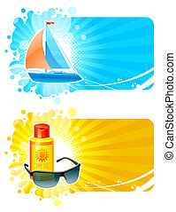 Resort & travel vector frames