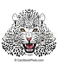 Leopard, tattoo - Vector Leopard, tattoo