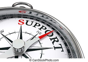support concept compass - support indicated by concept...