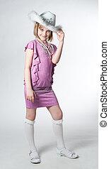 little princess in purple dress
