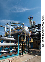 Gas industry. sulfur refinement factory