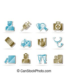 Medicine and healthcare icons - vector icon set