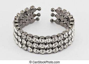 Titanium bracelet - Female black titanium bracelet