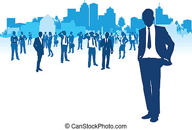 business people cityscapes