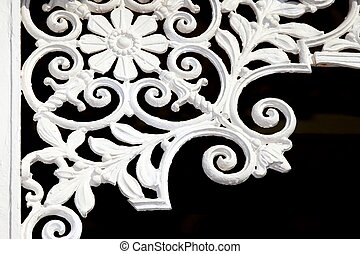 Iron Lattice Decoration - Vintage iron lattice art work in...