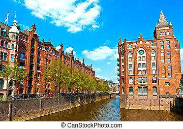 Speicherstadt, Hamburgo
