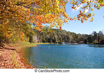 Autumn in West Virginia - Scenic autumn landscape with...
