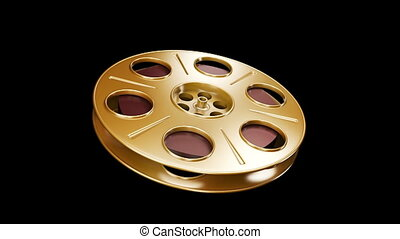 Spinning Film Reel