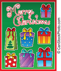 Christmas theme greeting card 2