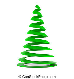 Stylized Christmas tree in green plastic