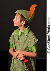 Peter Pan - Young boy dressed up in Peter Pan Costume
