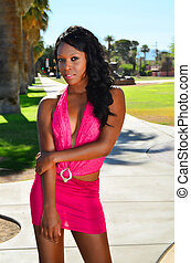 African American Girl - Lovely African American girl in a...