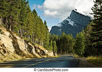 Scenic route in Banff National Park - High altitude driving...