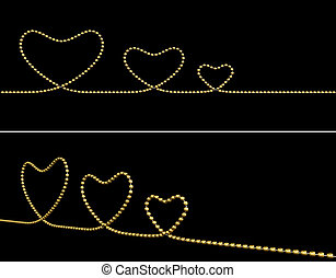 Gold Jewelry Heart Shape Symbol Design